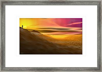 Desert Sunset Framed Print by Tyler Robbins
