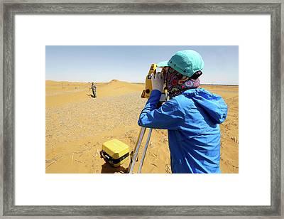 Desert Surveying Framed Print