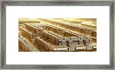 Desert Temple Framed Print by Bernard MICHEL