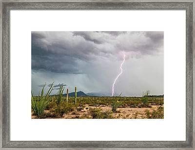 Desert Thunderstorm Framed Print by Roger Hill