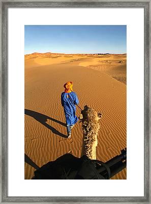 Desert Trek Framed Print by Sophie Vigneault