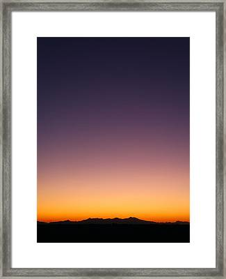 Framed Print featuring the photograph Desert Twilight by Brad Brizek