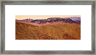 Desert View In Arizona By The Colorado River Framed Print by Bob and Nadine Johnston