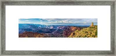 Desert View Panorama Framed Print by Guy Schmickle