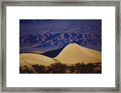 Desert Wave Framed Print by Michael Courtney