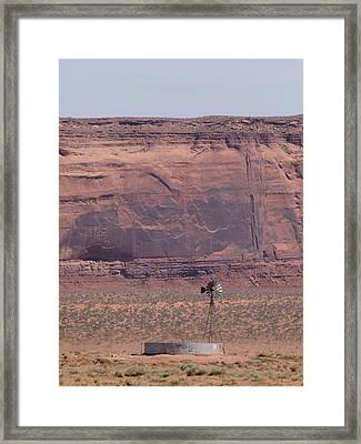 Desert Windmill Framed Print by Sanda Kateley