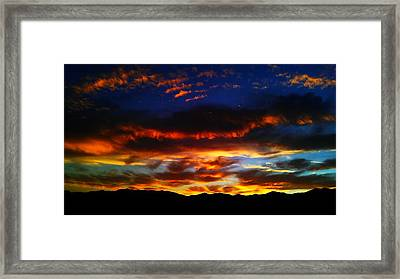 Desert Winter Sunset  Framed Print by Chris Tarpening