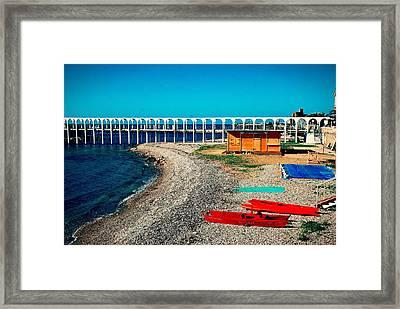 Deserted Beach Civitavecchia Italy Framed Print