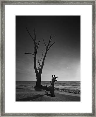 Deserted Beach Sunset Framed Print