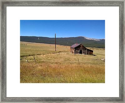 Framed Print featuring the photograph Deserted Cabin by Fortunate Findings Shirley Dickerson