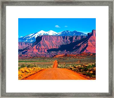 Deserted Dirt Road Framed Print
