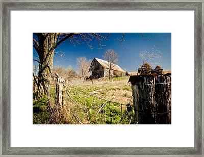 Deserted Farm Framed Print by Karen Varnas