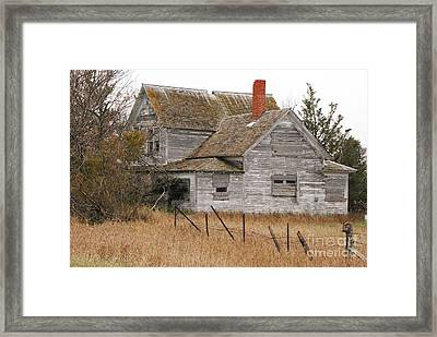 Framed Print featuring the photograph Deserted House by Mary Carol Story