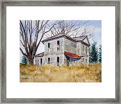 Deserted House  Framed Print by Rick Mock