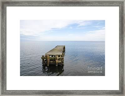 Deserted Jetty Framed Print