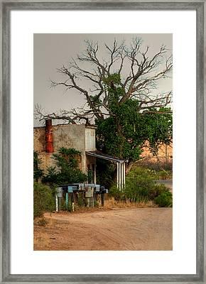 Deserted Store In The Desert... Framed Print