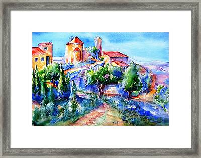 Deserted Village Of Perillos  Framed Print by Trudi Doyle