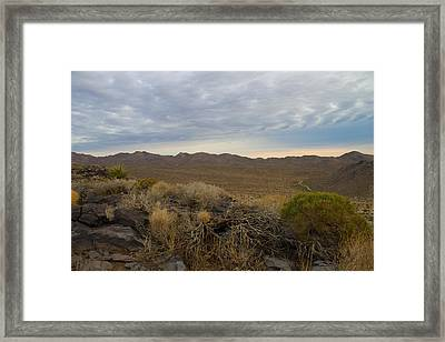 Deserts First Light Framed Print by Jim Mattern