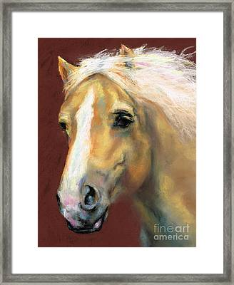 Desi On The Run Framed Print