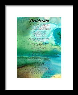 Poem Framed Prints
