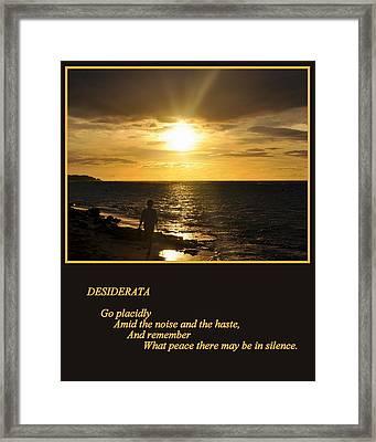 Desiderata Framed Print by AJ  Schibig