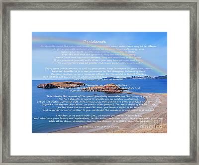 Desiderata  Framed Print by Barbara Griffin