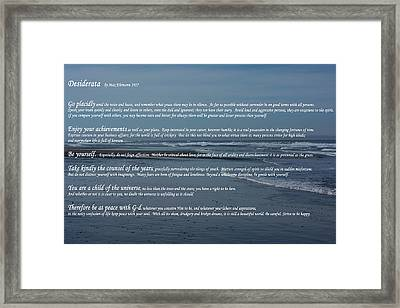 Desiderata  Framed Print by Tikvah's Hope