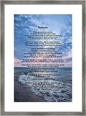 Desiderata Wisdom Framed Print by Dale Kincaid