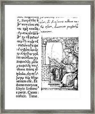 Desiderius Erasmus (1456?-1536) Framed Print