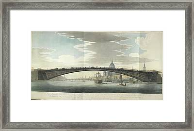 Design For A Cast Iron Bridge Framed Print by British Library