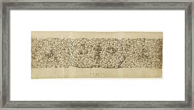 Design For A Frieze Of Grapevines Virgil Solis Framed Print