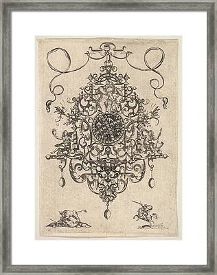 Design For A Pendant With Cupid Framed Print