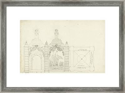 Design For A Temple At The Occasion Of The Freedom Framed Print