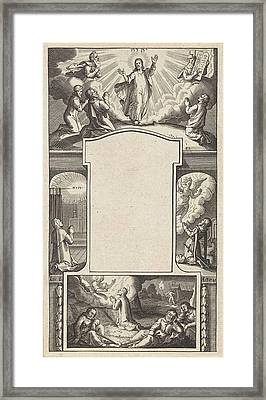 Design For A Title Page, Pieter Serwouters Framed Print