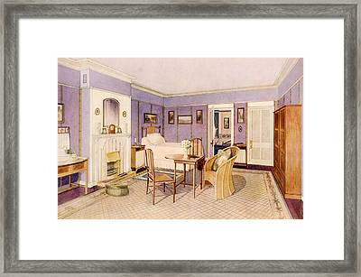 Design For The Interior Of A Bedroom Framed Print