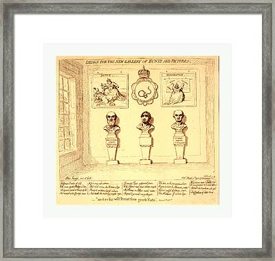 Design For The New Gallery Of Busts And Pictures Framed Print by Litz Collection