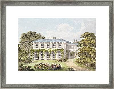 Design For The South Front Of A House Framed Print by Humphry Repton