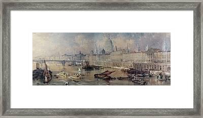 Design For The Thames Embankment Framed Print