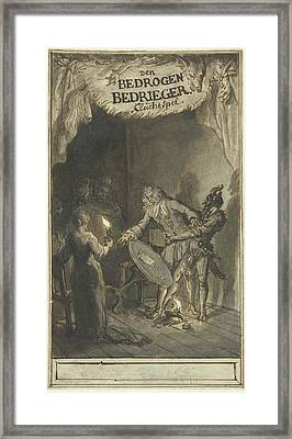Design For The Title Page Of The Farce Of The Deceived Framed Print by Quint Lox