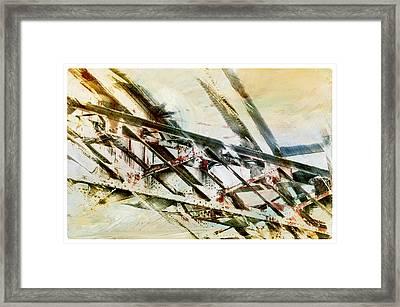 Design In Steel Framed Print by Davina Washington