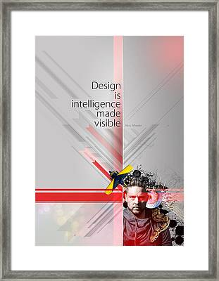 Design Is Intelligence Framed Print by Samuel Whitton