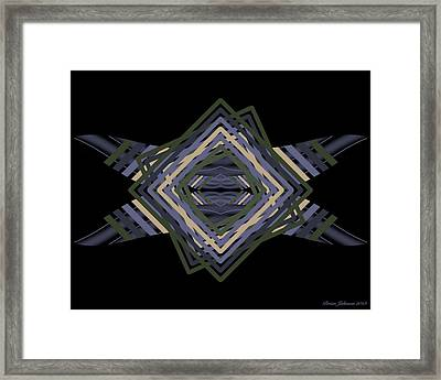 Framed Print featuring the digital art Design Time Thinking by Brian Johnson