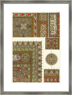 Designs From A Copy Of The  Koran Framed Print by Mary Evans Picture Library
