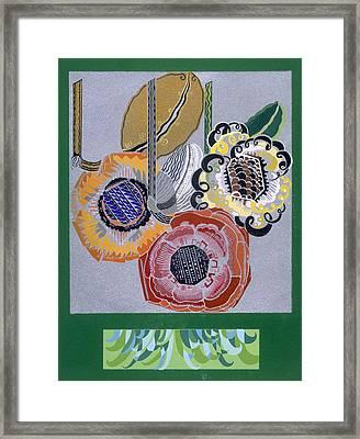 Designs From Relais, C.1920s-1930 Framed Print