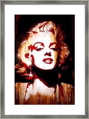 Desire Marilyn Monroe Framed Print by Brad Jensen