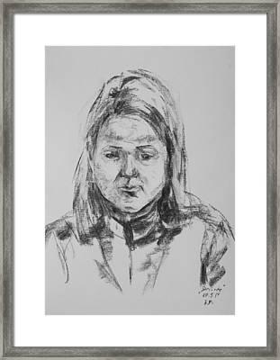 Desiree Framed Print by Barbara Pommerenke