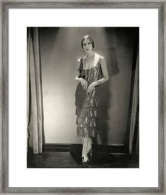 Desiree Lubowska Wearing A Chanel Dress Framed Print by Edward Steichen