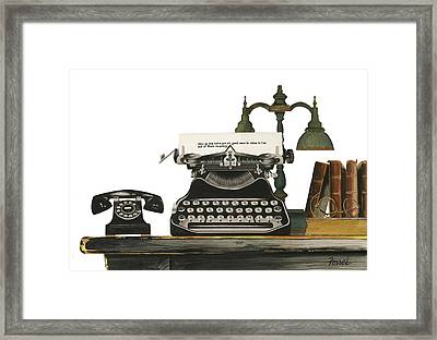 Framed Print featuring the painting Desk Jockey by Ferrel Cordle