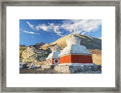Deskit Monastery, Ladakh, India Framed Print by Peter Adams