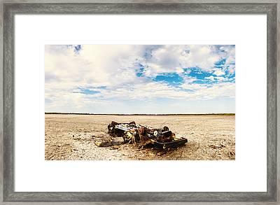 Desolate Desert Wasteland. Deception Bay Framed Print by Jorgo Photography - Wall Art Gallery